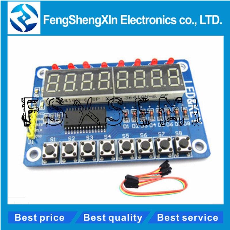 8-Bit Led 8-Bit Digital Tube 8-Bit Key TM1638 Module Board+Dubont Line New Ic ix