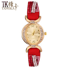 2017 Classic fashion Luxury Brand Crystal Woman Bracelet watch Clock Ladies Elegant generous Dress Quartz Wrist Watch Gift