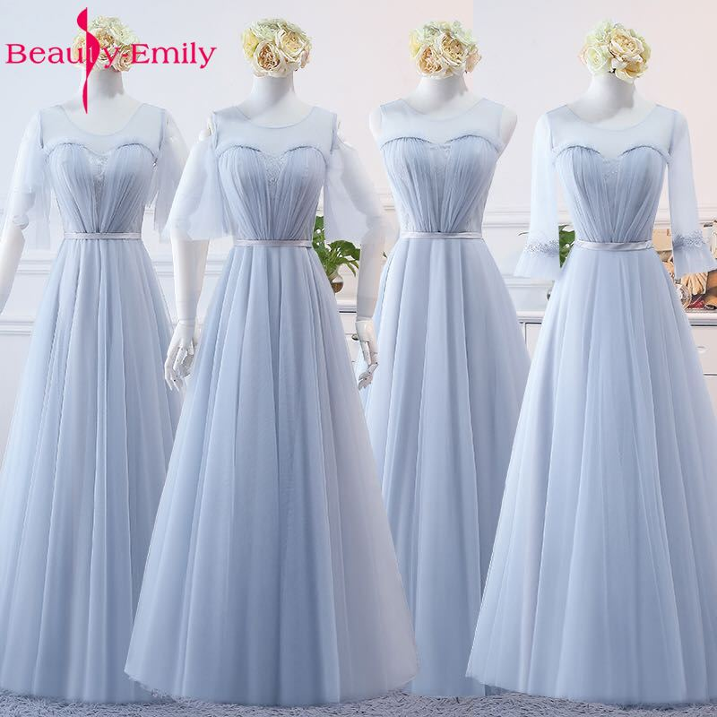 Beauty Emily Sexy Long   Bridesmaid     Dresses   2019 A-Line Sleeveless Off the Shoulder Homecoming Wedding Party   Dresses