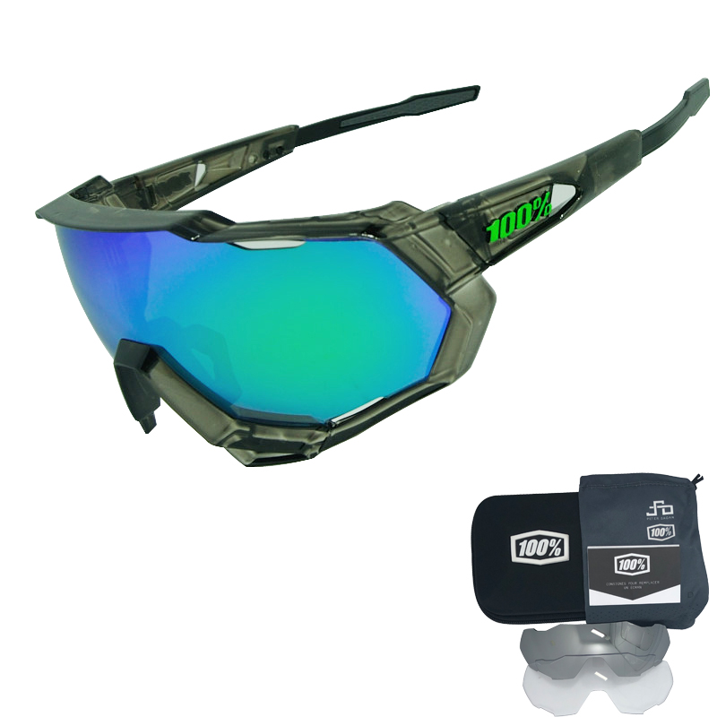 2018 Speedtrap Speedcraft S2 Cycling Glasses Eyewear 3 Lens Polarized Sunglasses Coated Mirror UV400 Bike Bicycle MTB Goggles triangle design mirror lens sunglasses
