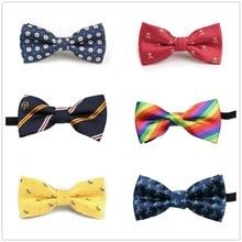 HOOYI/галстуки-бабочки для мальчиков; детские галстуки в полоску; галстук-бабочка в горошек для детей; вечерние галстуки с рисунками; подарок; маленький размер