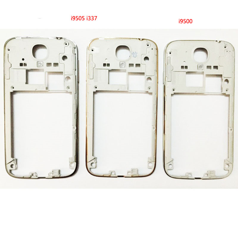 10pcs/lot Middle Frame Plate Bezel For Samsung Galaxy S4 I9505 I9500 I337 Housing Cover Case With Volume Power Buttons Frame Colours Are Striking