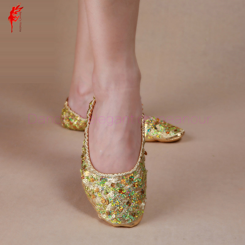 NEW! Senior Belly Dance Shoes  Sequins  Belly Dance Shoes For Women/gilrs Belly Dance Shoes