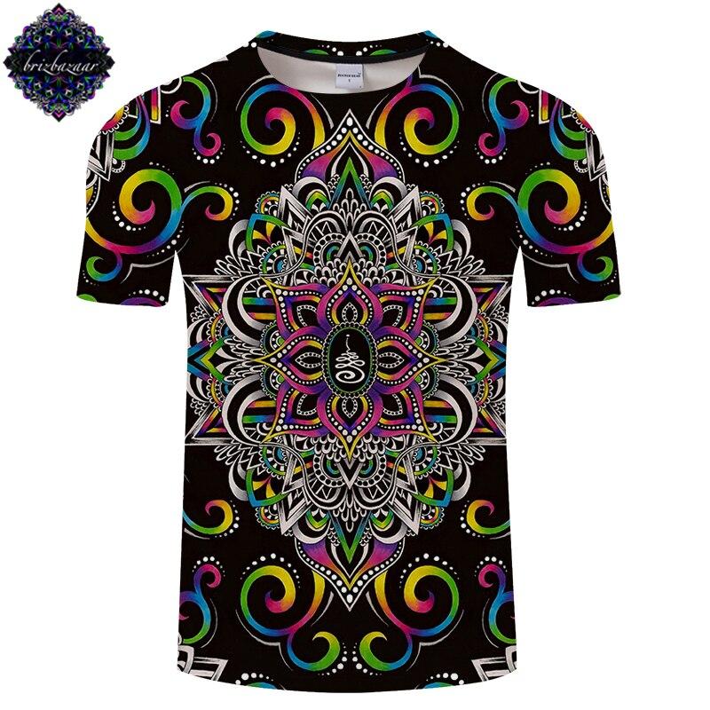 Harmony Magic By Brizbazaar Art Men 3D Print T Shirts Flower of Life Tshirt Men Women Brand T Shirt Summer Short Sleeve Drop Shi