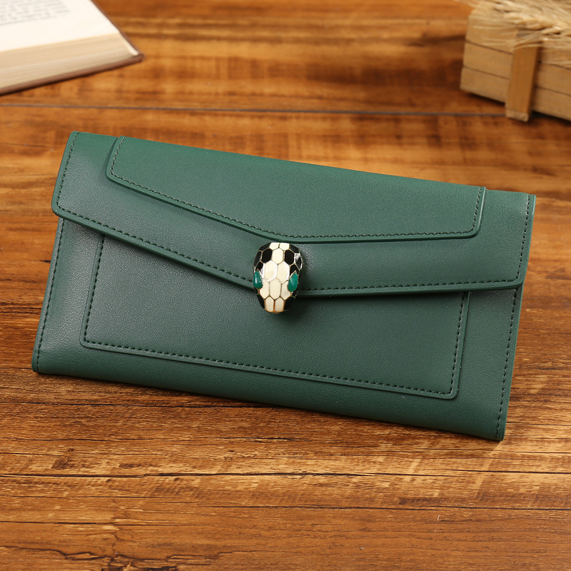 MAIFEINI New Arrival Famous Brand Genuine Leather Wallets Cow Leather Wallet Snake Head Credit Card Clutch Bag Women's Purse new arrival famous sexy women cow leather wallet 2017 short real leather wallets card holders clutch bag genuine leather purse