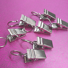 Clips Shower-Curtain-Clips Hanger Silver Hook Peg-Pins Clamps Glider Spring Heavy-Duty