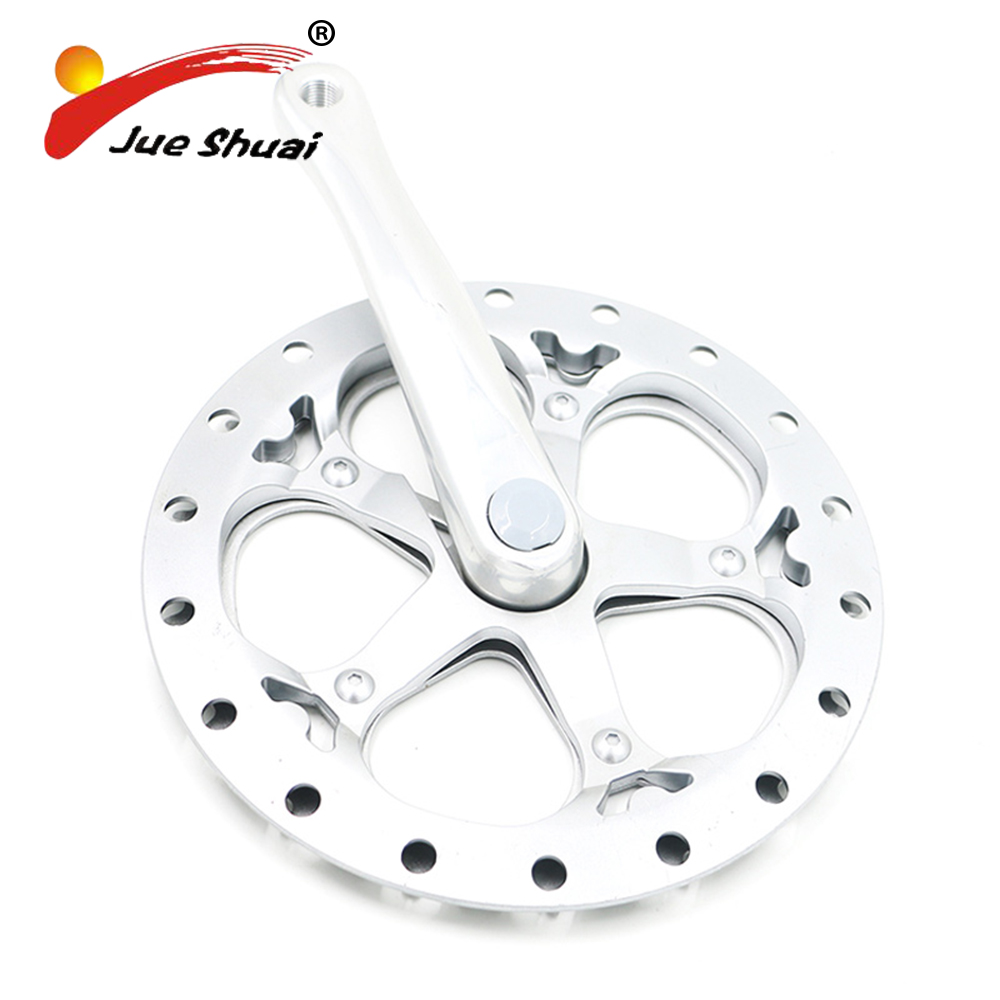 Jueshuai Round Shape Bicycle Chainwheel and Crank Guarnitura MTB Crankset Connecting Rods For Bike Circle Crankset Bicycle Parts west biking bike chain wheel 39 53t bicycle crank 170 175mm fit speed 9 mtb road bike cycling bicycle crank