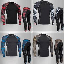 Teen Thermal Underwear Set Winter Warm Training Quick dry Clothes Long johns Rashgard male Sport suit
