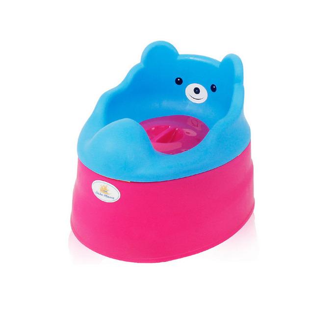 2017 Novo Bebê Crianças Assento Do Vaso Sanitário Higiênico Treinamento Potty Potty Cadeira Infantil Bonito do Urso de Crianças Pee Instrutor 3 Cor WJ0024