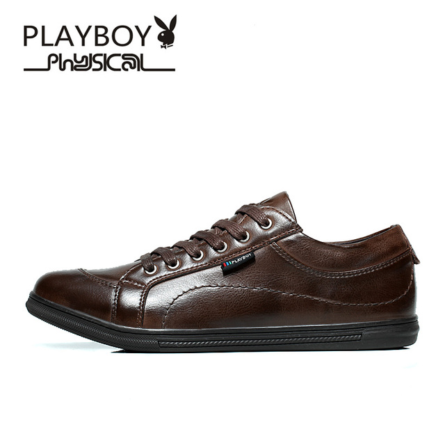 PLAYBOY Leather Mens Shoes Casual Summer Autumn Fashion Loafers Shoes for  Man Hand Made Driving Shoes