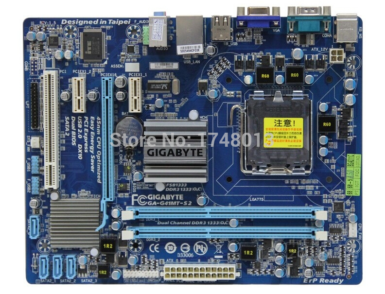 original motherboard for gigabyte GA-G41MT-S2 LGA 775 DDR3 board G41MT-S2 Fully Integrated G41 desktop motherboard Free shipping  original motherboard for gigabyte ga 945gcm s2 lga 775 ddr2945gcm s2 945gc desktop motherboard free shipping