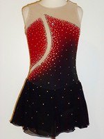 red ice skating clothing hot sale women figure skating dress new brand sexy dress skating free shipping ice dress W21