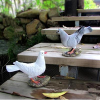 Resin bird crafts, simulation dove, garden decorations, garden landscape decoration