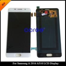 ЖК-дисплей AMOLED для Samsung A5 2016 A510, сенсорный экран с цифровым преобразователем в сборе для Samsung A5 2016 A510F