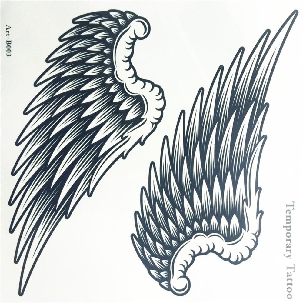 Angel Wings Raver Arm Ben Body Art Vattentät Tillfällig Tattoo - Tatuering och kroppskonst - Foto 4