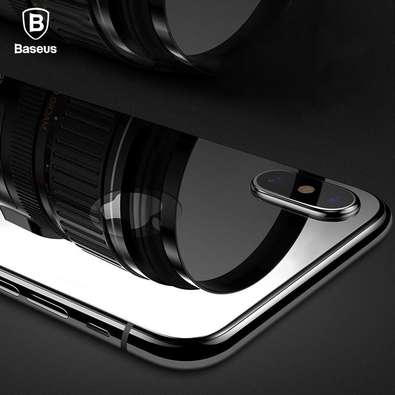 Baseus 0.3mm Retour Protecteur D'écran Pour iPhone X Arrière En Verre Trempé Pour iPhone X 10 Inverse De Protection En Verre Trempé Film
