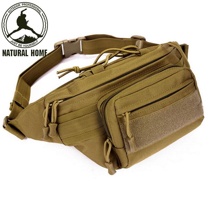 Prix pour NaturalHome résistant à L'eau Tactique Hommes Taille Sacs Paquet Sport En Plein Air Pack Randonnée Camping Voyage Armée Pack Sac