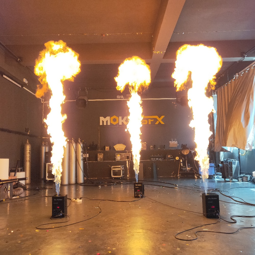 One Head Fire Machine Stage Effect Dmx Flame Thrower Flame Projector For Outdoor Indoor Stage Theater Garden