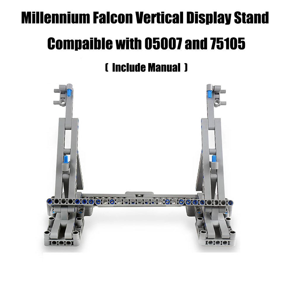 Millennium Falcon Vertical Display Stand Compatible With Lego For 05007 And 75105 Ultimate Collector's Model