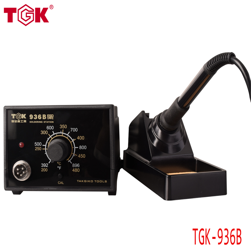 CE ROHS high quality Electric Soldering Iron Station 220v 60w 480 degree Soldering Rework Station TGK-936B 936 power electric soldering station smd rework welding iron w stand 110v 220v g205m best quality