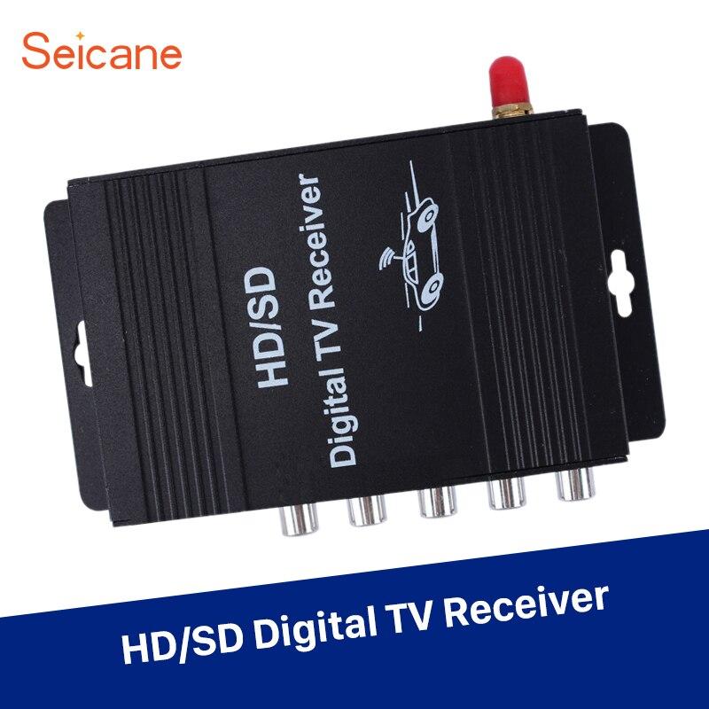 Récepteur de télévision numérique HD universel Seicane pour Audi BMW Buick Chevrolet Chrysler Dodge Ford G 2 sortie audio 4 entrée/sortie vidéo