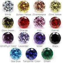 1PCS Per Colori Totale 15pcs Formato 4 millimetri ~ 10 millimetri Rotonda Forma Sciolto Cubic Zirconia Pietra piedra de circonia para joyería