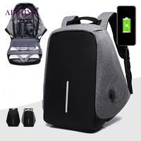 Anti Theft Men Laptop Backpacks Multifunction USB Charge 15inch Laptop Backpacks School Bag Mochila Leisure Male