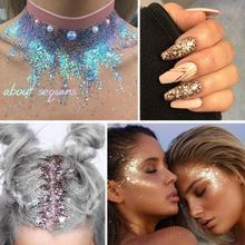 Festival Glitter Sequin Eyes Powder Star Makeup Shining Colorful Face Lip Nail Art Body Hair Flash Shimmer