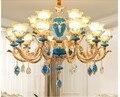 Freies Verschiffen Legierung Kronleuchter Modernen Europäischen Decora Wohnzimmer Kerze LED Lampen Restaurant Kronleuchter Luxus Hängen Lampe-in Kronleuchter aus Licht & Beleuchtung bei