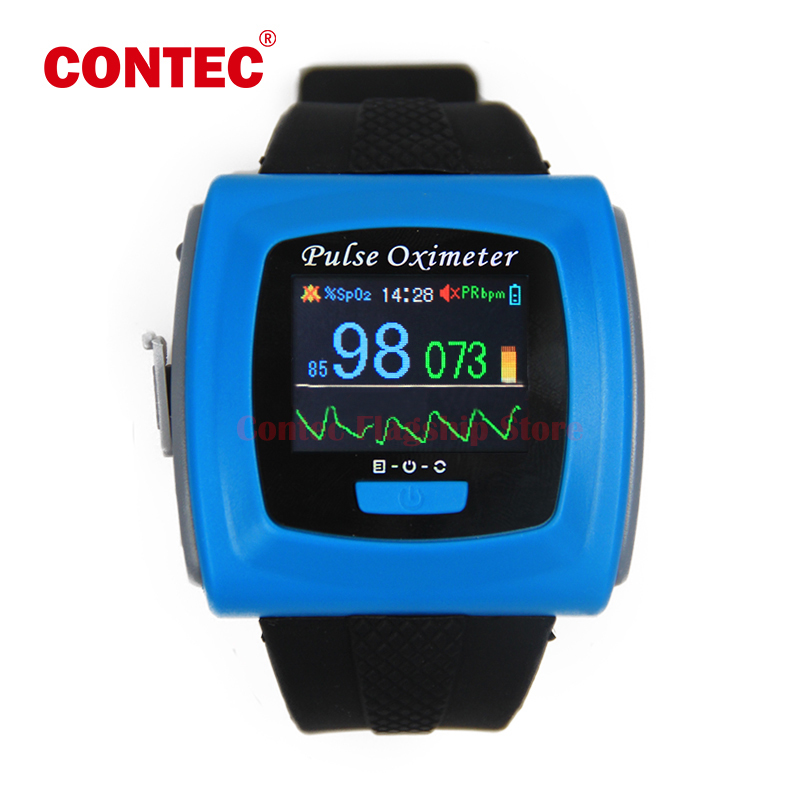 CMS50F Color OLED Display Black & White Wrist Pulse Oximeter, SPO2, Pulse Rate, Blood Oxygen Monitor With Free Shipping color oled wrist fingertip pulse oximeter with software spo2 monitor
