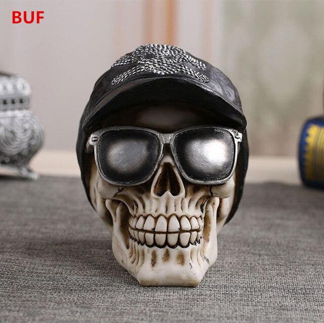 89e60d34164 Resin Craft Skull Statues For Decoration Skull Ornaments Creative Horror  Sculpture Home Decoration Accessories Statues   Sculptu