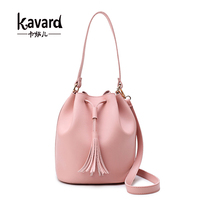 Kavard Brand Woman Bucket Bag High Quality Pu Leather Handbag Women Crossbody Bags 2017 Summer Fashion