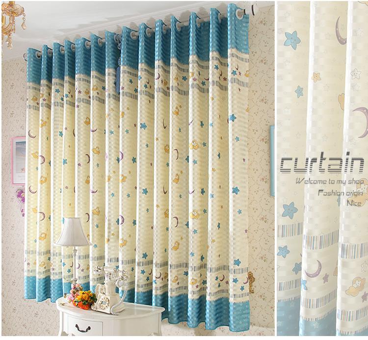 cortinas de dibujos animados de cortina para la habitacin