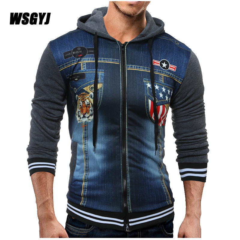 2017 Hoodie Zipper Cardigan Tide 3d Tiger Printing Hoodies Men Fashion Sweatshirt Off White Hoodie Mens Purpose Tour M-xxl Rich In Poetic And Pictorial Splendor Men's Clothing