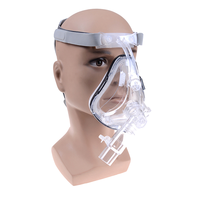 Size S/M/L FM1 Full Face Mask For Snoring Apply To Medical CPAP BiPAP Silicone Gel Material With Headgear Clip Facial Care Tool