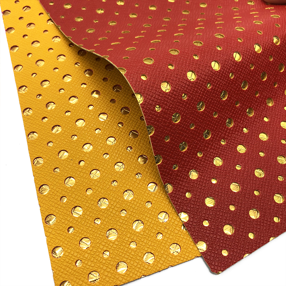 David accessories 20*34cm Hollow dots spot vinyl Faux Artificial Synthetic Leather Fabric DIY Sewing Garment knotbow,1Yc3528
