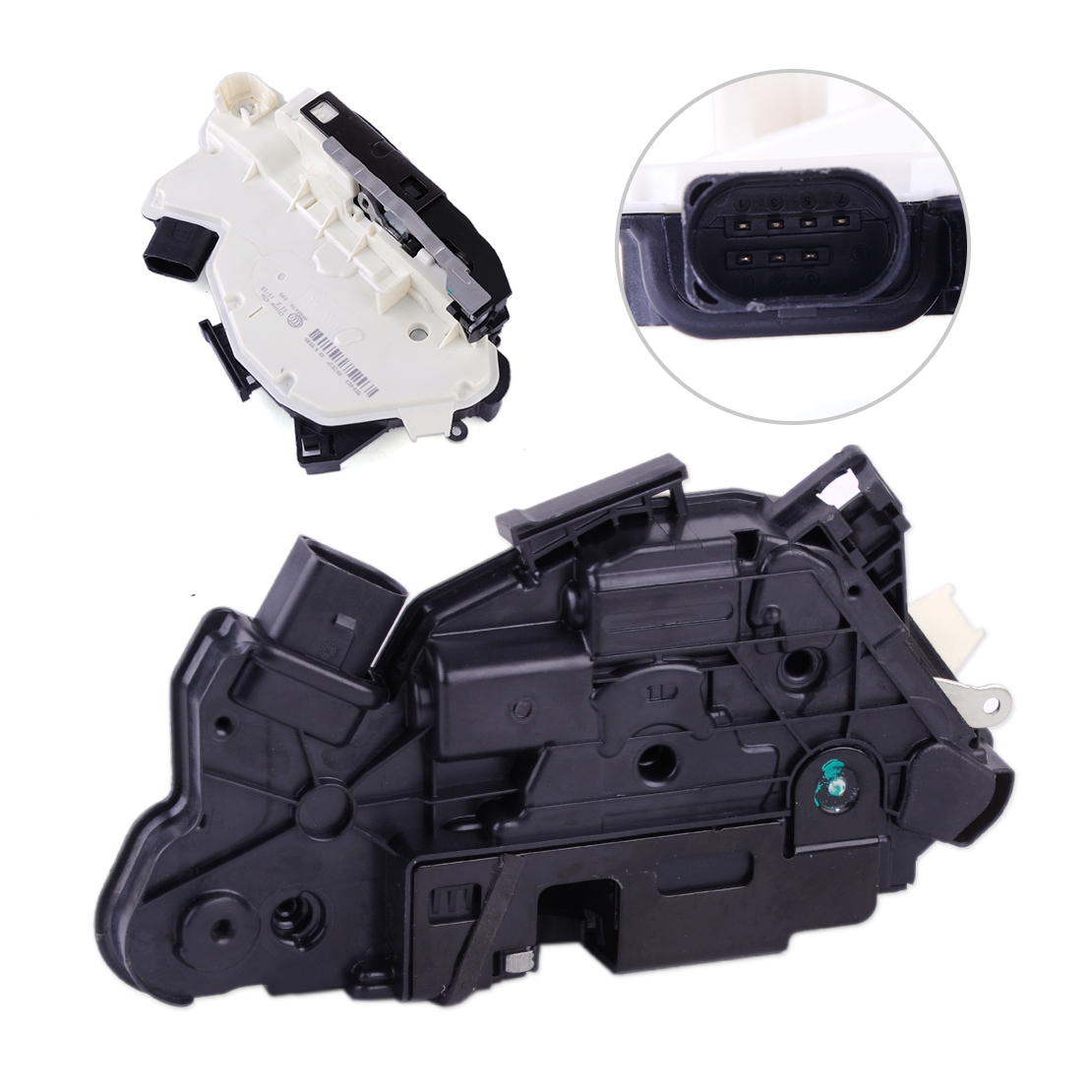 DWCX Car Styling Door Lock Latch Actuator Driver Door Front Left LH 5N1 837 015 C Fit for VW Tiguan CC Scirocco black door lock latch actuator driver front side left lh for vw jetta golf beetle easy to install
