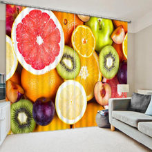 Colorful Fruit Art Curtains Bedding Living Room 3D Photo Print Cortians Sunshade Window Curtains Custom-made Size(China)