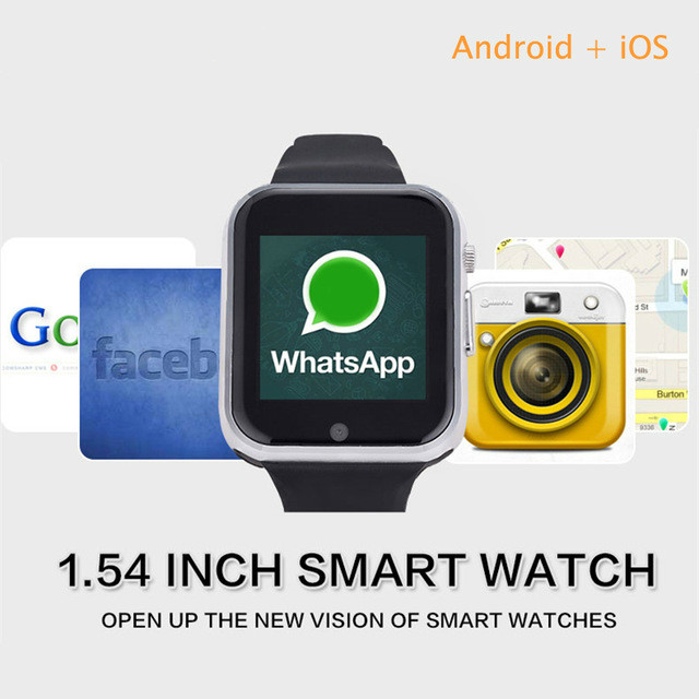 GW05 Smart Watch Phone Android OS Smartwatch MTK 6572 Support Sim card Android 4.4 Bluetooth 3G With WIFI Camera GPS