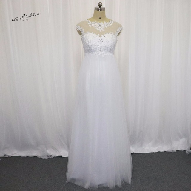 Средства ухода за кожей для будущих мам Свадебные платья для беременных Для женщин Кружево Свадебное платье империи талии свадебные платья корсет Назад Vestido де Novia плюс Размеры