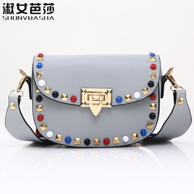 821fc3d570 diamond red colorful strap shoulder bag small women bag shopping bag lock  black mini bag famale ladies girl fashion