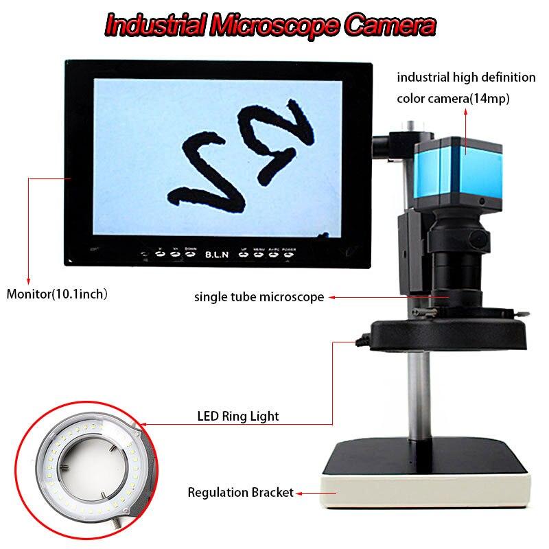 USB 720 P 30 images/sec HD industrie microscope caméra HDMI HD interface de sortie vidéo grossissement réglable Zoom c-mount lentille