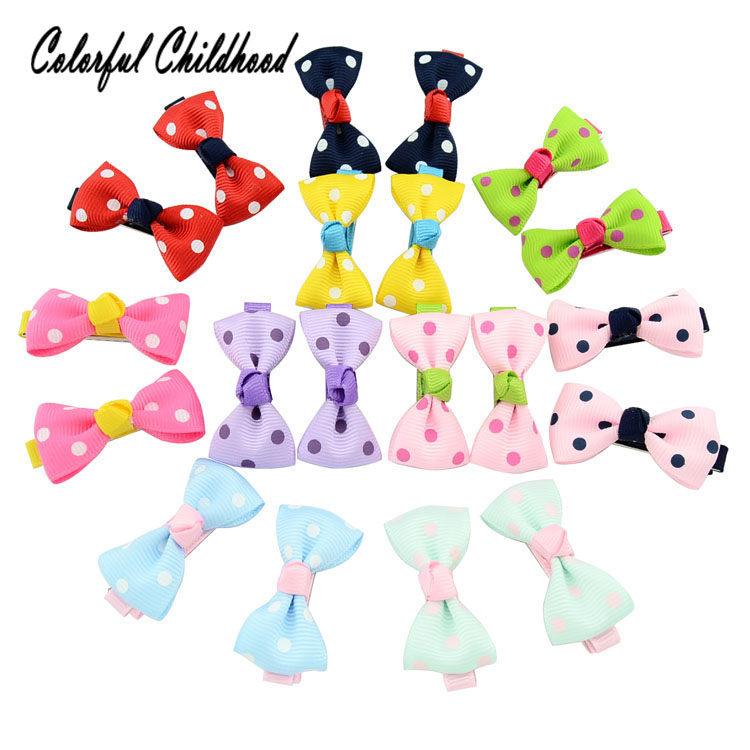 Baby Hairpin 2018 Hot Sale colorful Dot Hair Accessories Bowknot children Hair ornaments for all age kids
