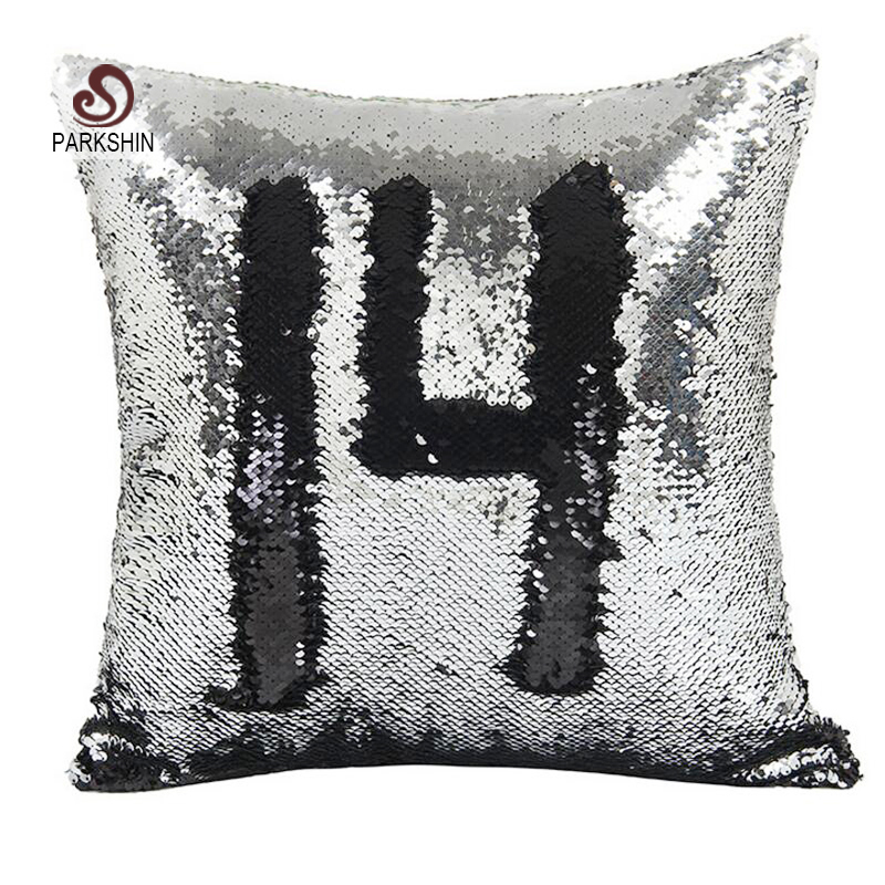 parkshin sequin cushion cover embroidered pillow cover multicolor decorative pillow case sofa seat car pillowcase handmade