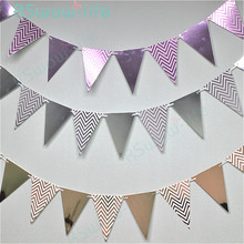 2sets Stamping Pennant Nordic Wave 12pcs Layout Supplies Festive Party