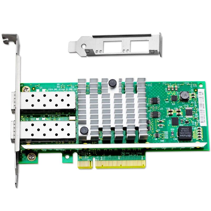 X520-DA2 10GBase PCI Express x8 82599ES Chip Dual Port Ethernet Network Adapter E10G42BTDA,SFP not included адаптер dell qlogic 2562 dual port 8gb fibre channel hba pci e x8 full profile kit 406 bbek