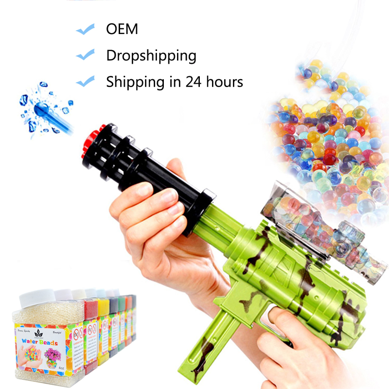 45000 Pcs/Box Water Gun Bullet Toy Orbeez Soft Crystal Water Paintball Gun Bullet Grow Water Beads Balls Outdoor Orbita Gun Toy