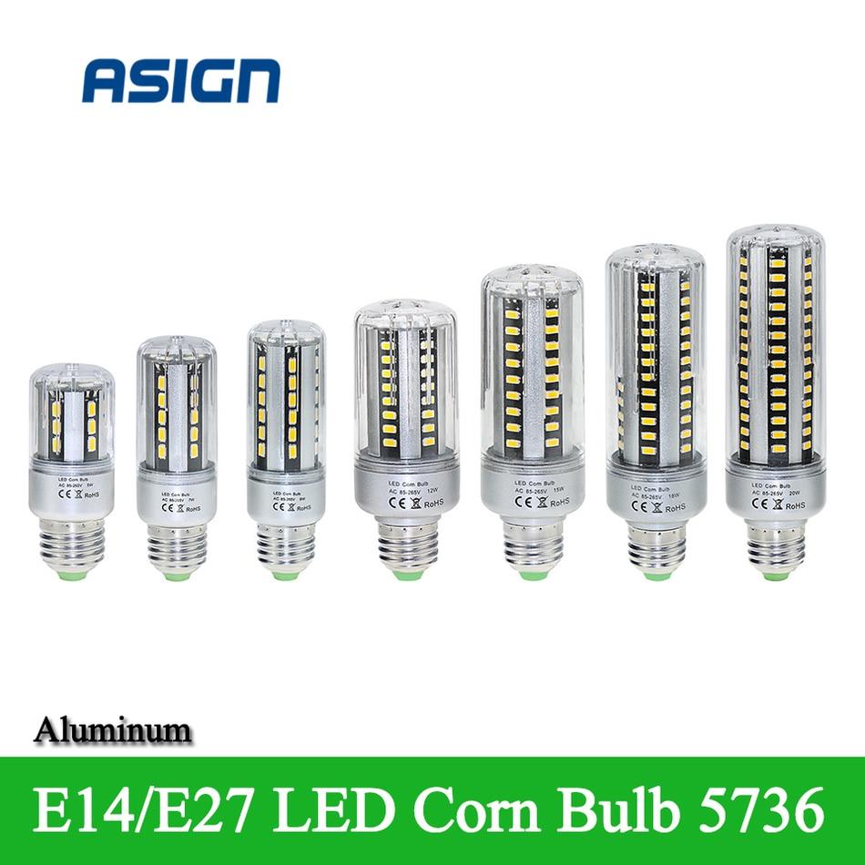 New Bulb Light E27 E14 LED Corn Bulb 5736 SMD Aluminum Corn Lamp AC85-265V 24 36 42 54 60 78 90leds Energy Saving Lamp 7w led bulb light e26 e27 g24 g23 e14 7w led corn light corn bulb lamp cob led corn light with aluminum shell 85 265v