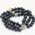 Multilayer bracelets natural 7-8mm black pearl beads fashion women 3 rows unique design hot sale elegant jewelry 7.5inch B2804