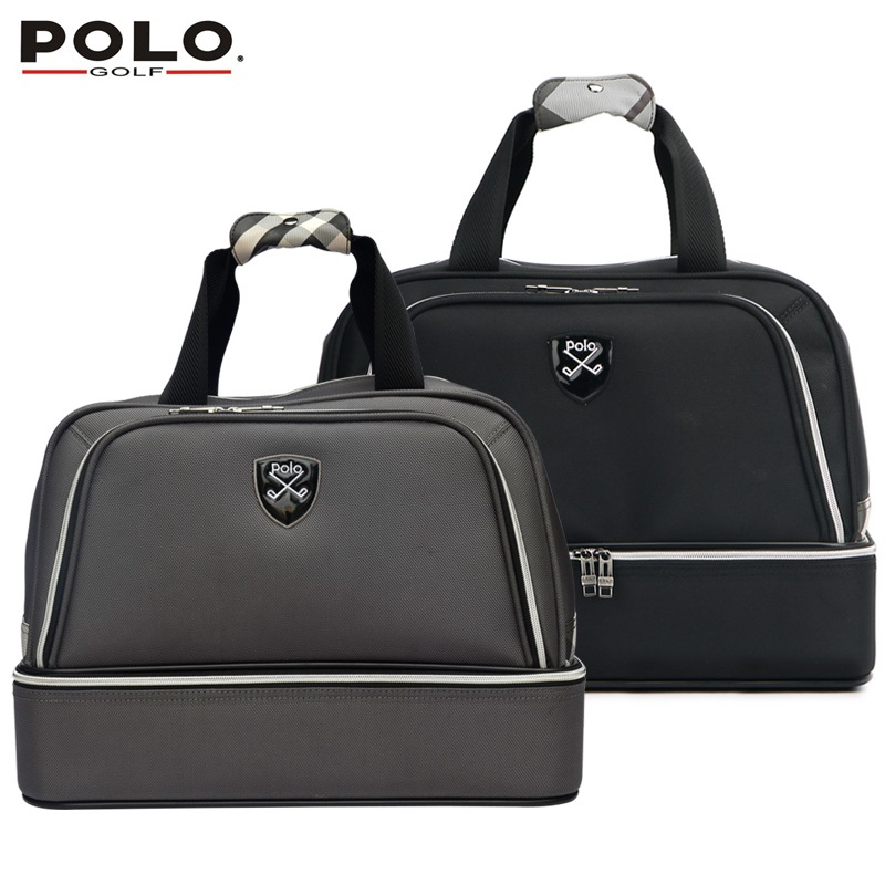 High Quality Authentic Polo Double Clothing and Shoes Bag Men Travel Golf Shoulder Bag Custom Handbag Large Capacity 45*26*34 CM 2016 new genuine polo brand golf bag for men s clothing bag women pu bag large capacity high quality